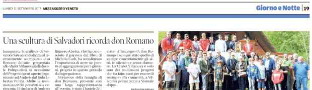 Rassegna stampa: La statua per Don Romano